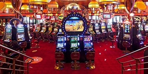 Vieille enseigne de salle de jeux casino